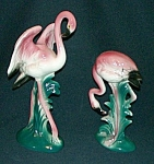 Click here to enlarge image and see more about item AD183: Pair of Flamingo Figurines