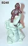 Click here to enlarge image and see more about item B248: Little Black Sambo/Elephant S&P Shakers