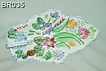 Click here to enlarge image and see more about item BR035: Blue Ridge Leaf Celery China Dish