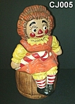 Click here to enlarge image and see more about item CJ005: Raggedy Ann Cookie Jar