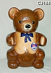 "This wonderful ""Kraft-T Marshmallow Bear"" Advertising Cookie Jar measures 15"" high. It was produced in 1982. It is marked,""By Geniune Regal China, T-Bear Pawprint"". This cooki..."