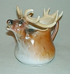 Click here to enlarge image and see more about item CR269: Royal Bayreuth Elk Creamer