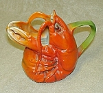 "Click here to enlarge image and see more about item CR283: 4"" Royal Bayreuth ""Lobster"" Creamer"