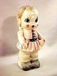 "Click to view larger image of 12"" Carnival Chalk Doll Bank (Image1)"