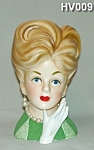 "Click here to enlarge image and see more about item HV009: 7 1/4"" Lady Head Vase"