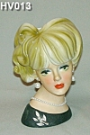 "Click here to enlarge image and see more about item HV013: 7 1/2""  Napcoware Young Lady Head Vase"