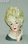 "Click here to enlarge image and see more about item HV030: 7 1/2"" ARDCO Lady Head Vase"