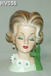 "Click here to enlarge image and see more about item HV056: 7 1/2""  Young Lady Head Vase"