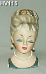 "Click to view larger image of 6 1/2"" Young Lady Head Vase (Image1)"