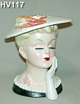 "Lefton 7 1/2"" Lady Head Vase"
