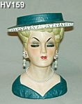 """Click to view larger image of 7"""" Lady Head Vase (Image1)"""