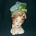 "Click to view larger image of 7"" Relpo Lady Head Vase (Image1)"