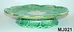 Click here to enlarge image and see more about item MJ021: Majolica Footed Pond Lily Plate