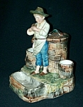 Click to view larger image of Majolica Young Boy Figural Humidor (Image1)