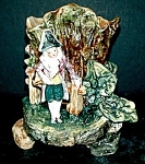 "Click to view larger image of 5 3/4"" Majolica Frenchman Vase (Image1)"