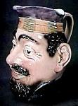 "Click to view larger image of 9"" Majolica Face Jug (Image1)"