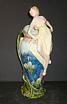 Click here to enlarge image and see more about item MJ107: Majolica Art Nouveau Vase