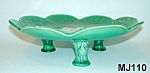 Click here to enlarge image and see more about item MJ110: Majolica 3 Legged Pond Lily Cakestand