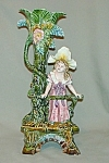"""Click to view larger image of 12"""" Majolica """"Victorian Girl"""" Vase (Image1)"""