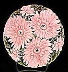 "Click to view larger image of 7 3/4"" Majolica Floral Plate (Image1)"