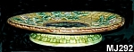 "Click here to enlarge image and see more about item MJ292: Majolica ""Apple Blossoms"" Cakestand"