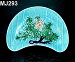 Click here to enlarge image and see more about item MJ293: Majolica Crescent Dish