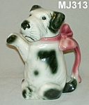 "Click here to enlarge image and see more about item MJ313: 7 1/2"" Majolica Erphila Dog Teapot"