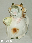 "Click here to enlarge image and see more about item MJ314: Majolica ""Erphila"" Cow Teapot"
