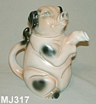"Click here to enlarge image and see more about item MJ317: Majolica ""Erphila"" Pig Teapot"