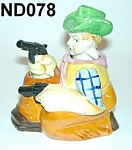 Click here to enlarge image and see more about item ND078: Young Cowboy Salt & Pepper Shaker Nodders