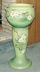 "Click here to enlarge image and see more about item RV023: Roseville ""Apple Blossom"" Jardiniere/Pedestal"