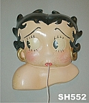 Click here to enlarge image and see more about item SH552: Vintage Betty Boop String Holder