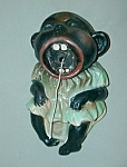 Click here to enlarge image and see more about item SH627: Vintage Crying Black Baby String Holder