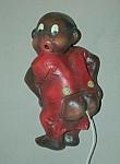 Click to view larger image of Vintage Black Boy in Red PJs String Holder (Image1)
