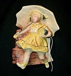 Click here to enlarge image and see more about item SH636: Vintage Morton Salt Girl String Holder