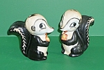 "Click here to enlarge image and see more about item SP132: Goebel ""Skunk"" Salt & Pepper Shakers"