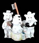 "Click here to enlarge image and see more about item TH045: ""The Three Little Pigs"" Toothbrush Holder"