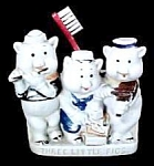 "Click here to enlarge image and see more about item TH046: ""Three Little Pigs"" Toothbrush Holder"