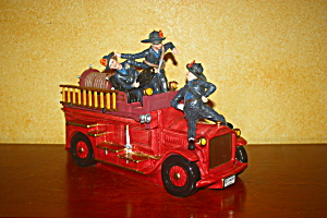 Three Stooges Firetruck Cookie Jar