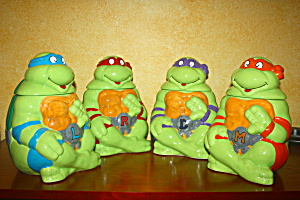 Four Teenage Muntant Ninja Turtles Cookie Jar