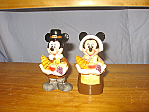 Mickey & Minnie Pilgrims Salt & Pepper