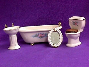 White Bathroom 4 Pc Set