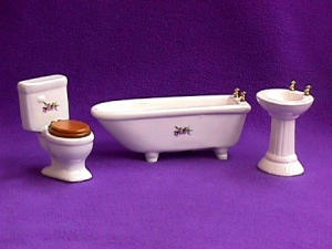 White Bathroom 3 Pc Set