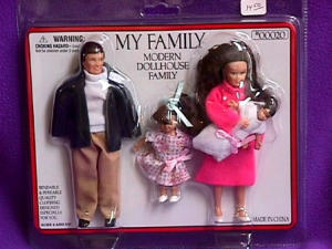 Dollhouse Family Brown Hair
