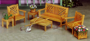 Chippendale Garden Wood Set