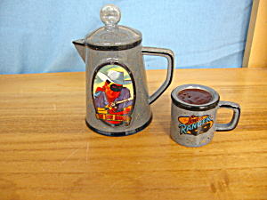 Lone Ranger Coffee Pot & Mug Salt & Pepper