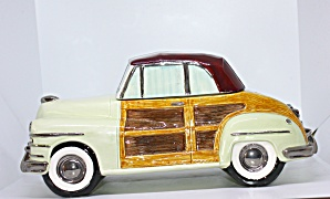 American Roadster Woody Cookie Jar