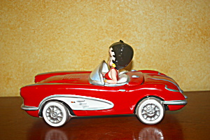 Betty Boop In Red Corvette Cookie Jar
