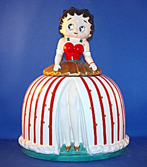 Betty Boop In Holiday Dress Cookie Jar