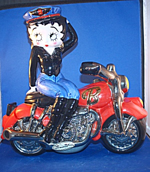 BETTY BOOP ON MOTORCYCLE COOKIE JAR (Image1)